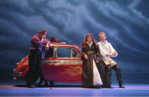 THE TAMING OF THE SHREW   by Shakespeare - director: Gale Edwards ,IV/v - on the road to Padua: Josie Lawrence (Katherina), Michael Siberry (Petruchio),Royal Shakespeare Company / Royal Shakespeare Th...
