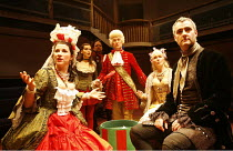 A JOURNEY TO LONDON   by John Vanbrugh & James Saunders  design: Sam Dowson  lighting: Kevin Leach  director: Sam Walters <br>~l-r: Mairead Carty (Lady Headpiece), Sophie Trott (Betty), Peter Forbes (...