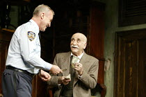 'THE PRICE' (Arthur Miller - director: Sean Holmes)~l-r: Larry Lamb (Victor), Warren Mitchell (Solomon)~Tricycle Theatre production / Apollo Theatre, London W1                  11/09/2003