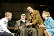 'THE PRICE' (Arthur Miller - director: Sean Holmes)~l-r: Larry Lamb (Victor), Warren Mitchell (Solomon), Des McAleer (Walter), Sian Thomas (Esther)~Tricycle Theatre production / Apollo Theatre, London...