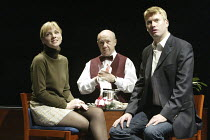 'PRIVATE FEARS IN PUBLIC PLACES' (written & directed by Alan Ayckbourn)~l-r: Melanie Gutteridge (Nicola), Adrian McLoughlin (Ambrose),  Stephen Beckett (Dan)~Stephen Joseph Theatre / Scarborough, Engl...