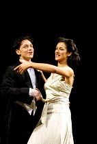 'PRIVATES ON PARADE' (Nichols)~James McAvoy (Steven Flowers), Indira Varma (Sylvia Morgan)~Donmar Warehouse, London WC2          10/12/2001