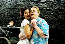 'PRIVATES ON PARADE' (Nichols)~Indira Varma (Sylvia Morgan), Roger Allam (Acting Captain Terri Dennis) ~Donmar Warehouse, London WC2          10/12/2001