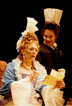 'THE PROVOK'D WIFE' (Vanbrugh)~Alison Steadman (Lady Fancyfull) with Janine Duvitski (Madamoiselle)~Old Vic Theatre, London   04/07/1997