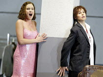 'ARIADNE AUF NAXOS' (Strauss)~l-r: Marlis Petersen (Zerbinetta), Sophie Koch (The Composer))~The Royal Opera / Covent Garden, London WC2                   06/09/2002