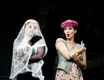 'ARIADNE AUF NAXOS' (Strauss)~l-r: Petra Lang (Ariadne), Marlis Petersen (Zerbinetta)~The Royal Opera / Covent Garden, London WC2   06/09/2002