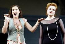 'ARIADNE AUF NAXOS' (Strauss)~l-r: Marlis Petersen (Zerbinetta), Petra Lang (Ariadne)~The Royal Opera / Covent Garden, London WC2   06/09/2002