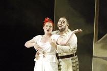 'ARIADNE AUF NAXOS' (Richard Strauss - conductor: Carlo Rizzi   director: Neil Armfield)~Katarzyna Dondalska (Zerbinetta), Wynne Evans (Brighella)~Welsh National Opera, New Theatre, Cardiff...