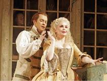 'THE BARBER OF SEVILLE' (Rossini - conductor: Dominic Wheeler   original director: Jonathan Miller),Mark Stone (Figaro), Alison Roddy (Rosina),English National Opera / London Coliseum  WC2         16/...