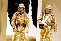 'COSI FAN TUTTE' (Mozart)~back from the 'war' - l-r: Kenneth Tarver (Ferrando), Dalibor Jenis (Guglielmo)~The Royal Opera/Covent Garden, London WC2      15/11/2001