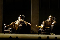 'COSI FAN TUTTE' (Mozart)~l-r: Mary Plazas (Dorabella), Susan Gritton (Fiordiligi)~English National Opera/London Coliseum               29/05/2002