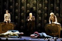 'COSI FAN TUTTE' (Mozart)~the sisters with their 'dead' suitors - l-r: Mary Plazas (Dorabella), Christopher Maltman (Guglielmo), (rear) Andrew Shore (Don Alfonso), Toby Spence (Ferrando), Susan Gritto...