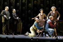 'COSI FAN TUTTE' (Mozart)~l-r: Andrew Shore (Don Alfonso), Janis Kelly (Despina), Christopher Maltman (Guglielmo), Mary Plazas (Dorabella), Toby Spence (Ferrando), Susan Gritton (Fiordiligi) ~English...
