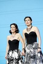'COSI FAN TUTTE' (Mozart - director: Samuel West)~l-r: Mary Plazas (Fiordiligi), Victoria Simmonds (Dorabella)~English National Opera / Barbican Theatre, London EC2                   20/09/2003