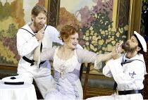 'COSI FAN TUTTE' (Mozart - coductor: Steuart Bedford   director: John Cox)~l-r: Daniel Belcher (Guglielmo), Wendy Dawn Thompson (Dorabella), Edgaras Montvidas (Ferrando)~Garsington Opera / England...