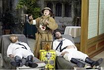 'COSI FAN TUTTE' (Mozart - coductor: Steuart Bedford   director: John Cox)~l-r: Daniel Belcher (Guglielmo), Lillian Watson (Despina), Edgaras Montvidas (Ferrando)~Garsington Opera / England...