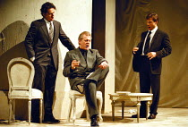 'COSI FAN TUTTE'~l-r: Rainer Trost (Ferrando, in Armani), Thomas Allen (Don Alfonso, in Armani),~Simon Keenlyside (Guglielmo, in Marks & Spencer)~Royal Opera / Shaftesbury Theatre, London  18/03/98