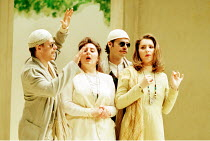 'COSI FAN TUTTE' (Mozart)~l-r: Simon Keenlyside (Guglielmo), Enkelejda Shkosa (Dorabella), Rainer Trost (Ferrando), Barbara Frittoli (Fiordiligi)~The Royal Opera / Covent Garden, London...