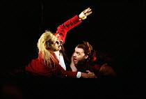 DON GIOVANNI  music: Mozart  libretto: da Ponte  conductor: Colin Davis  design: Maria Bjornson  lighting: Paul Pyant  director: Francesca Zambello ~opening scene - Giovanni watches the Commendatore d...