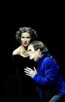 Act II: Anna Netrebko (Donna Anna), Ian Bostridge (Don Ottavio) in DON GIOVANNI at The Royal Opera, Covent Garden, London WC2  12/09/2003~music: Wolgang Amadeus Mozart  libretto: Lorenzo da Ponte  con...