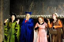 'FALSTAFF' (Verdi)~l-r: Alice Coote (Mistress Meg Page), Yvonne Kenny (Mistress Alice Ford), Susan Gritton (Nannetta), Rebecca de Pont Davies (Mistress Quickly)~English National Opera, London Coliseum...