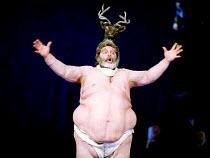 'FALSTAFF' (Verdi)~Falstaff humiliated in Windsor Forest: Paolo Gavanelli (Sir John Falstaff)~The Royal Opera, London WC2  12/01/2001