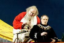 'FALSTAFF' (Verdi)~l-r: Bryn Terfel (Sir John Falstaff), Anthony Michaels-Moore (Ford)~The Royal Opera / Covent Garden, London WC2            11/02/2003