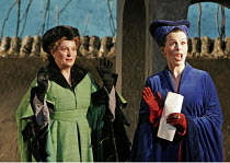'FALSTAFF' (Verdi - conductor: Mark Wigglesworth   original director: Matthew Warchus),l-r: Jean Rigby (Mistress Meg Page), Susannah Glanville (Mistress Alice Ford),English National Opera / London Col...