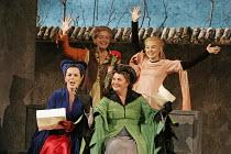 'FALSTAFF' (Verdi - conductor: Mark Wigglesworth   original director: Matthew Warchus),l-r: Susannah Glanville (Mistress Alice Ford), Rebecca de Pont Davies (Mistress Quickly), Jean Rigby (Mistress Me...