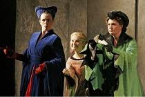 'FALSTAFF' (Verdi - conductor: Mark Wigglesworth   original director: Matthew Warchus),l-r: Susannah Glanville (Mistress Alice Ford), Gillian Keith (Nannetta), Jean Rigby (Mistress Meg Page),English N...