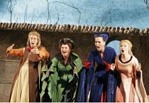 'FALSTAFF' (Verdi - conductor: Mark Wigglesworth   original director: Matthew Warchus),l-r: Rebecca de Pont Davies (Mistress Quickly), Jean Rigby (Mistress Meg Page), Susannah Glanville (Mistress Alic...