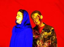 'IDOMENEO' (Mozart)~l-r: Christiane Oelze (Ilia), Magdalena Kozena (Idamante)~Glyndebourne Festival Opera                  10/06/2003