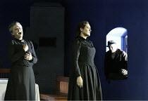 'JENUFA' (Janacek   conductor: Markus Stenz   director: Nikolaus Lehnhoff) the Kostelnicka confesses to killing Jenufa's child - l-r: Kathryn Harries (Kostelnicka Buryjovka), Orla Boylan (Jenufa) Gl...