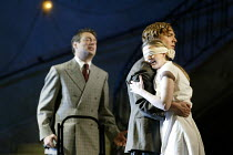 'JEPTHA' (Handel - conductor: Paul McCreesh   director: Katie Mitchell)~l-r: Mark Padmore (Jeptha), Sarah Tynan (Iphis), Daniel Taylor (Hamor)~Welsh National Opera / Cardiff                17/05/2003