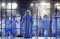'KHOVANSHCHINA' (Mussorgsky)~final scene - centre: John Tomlinson (Dosifey)~English National Opera / London Coliseum                     23/01/2003