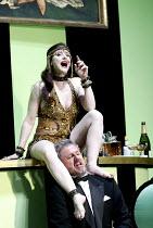 'LULU' (Berg)                                  (director: Richard Jones)~Lisa Saffer (Lulu), Robert Hayward (Dr Schn)~English National Opera/London Coliseum  WC2   01/05/2002
