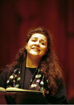 'RINALDO' (Handel)~Cecilia Bartoli (Almirena) in rehearsal ~Barbican Hall, London      performances 15th & 17th November 1999~#A23