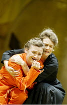 'THEODORA' (Handel)   (director: Peter Sellars)~l-r: Susan Gritton (Theodora), Lorraine Hunt-Lieberson (Irene) ~Glyndebourne Festival Opera / East Sussex, England     10/08/2003