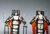 'THEODORA' (Handel)   (director: Peter Sellars)~facing execution: Susan Gritton (Theodora), Robin Blaze (Didymus)~Glyndebourne Festival Opera / East Sussex, England     10/08/2003