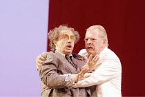 'IL TURCO IN ITALIA' (Rossini - conductor: Adam Fischer   directors: Moshe Leiser & Patrice Caurier),l-r: Alessandro Corbelli (Don Gernnio), Thomas Allen (Prosdomico),The Royal Opera / Covent Garden...