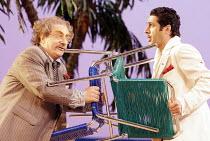 'IL TURCO IN ITALIA' (Rossini - conductor: Adam Fischer   directors: Moshe Leiser & Patrice Caurier),l-r: Alessandro Corbelli (Don Gernnio), Ildebrando D'Arcangelo (Selim/'The Turk'),The Royal Opera /...