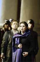 'SIMON BOCCANEGRA - 1881' (Verdi - conductor: Mark Elder   director: Elijah Moshinsky)~Angela Gheorghiu (Amelia Grimaldi) with (rear left) Neil Shicoff (Gabriele Adorno)~The Royal Opera /   Covent Gar...