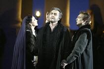 'SIMON BOCCANEGRA - 1881' (Verdi - conductor: Mark Elder   director: Elijah Moshinsky)~final scene - Simon dies - l-r: Angela Gheorghiu (Amelia Grimaldi), Franz Grundheber (Simon Boccanegra), Neil Shi...