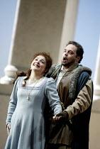 'SIMON BOCCANEGRA - 1881' (Verdi)~Tamar Iveri (Amelia Grimaldi), Marco Berti (Gabriele Adorno)~The Royal Opera/Covent Garden, London WC2    28/06/2002