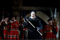 'THE YEOMEN OF THE GUARD' (Gilbert & Sullivan)~Jill Pert (Dame Carruthers)~D'Oyly Carte Opera Company/Savoy Theatre  London WC2    17/04/2002