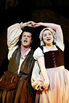 'THE YEOMEN OF THE GUARD' (Gilbert & Sullivan)~Paul Barnhill (Jack Point), Janet Fairlie (Elsie Maynard)~D'Oyly Carte Opera Company/Savoy Theatre  London WC2    17/04/2002