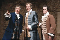 'THE SCHOOL FOR SCANDAL' (Sheridan - director: Peter Wood),l-r: Denis Quilley (Sir Oliver Surface), John Neville (Sir Peter Teazle), Alfred Lynch (Rowley),Olivier Theatre / National Theatre, London SE...