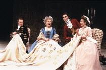 'THE SCHOOL FOR SCANDAL' (Sheridan - director: Peter Wood),l-r: John Normington (Crabtree), Prunella Scales (Mrs Candour), Guy Henry (Sir Benjamin Backbite), Diana Hardcastle (Lady Teazle),Olivier The...