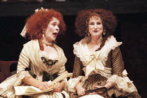 'THE SCHOOL FOR SCANDAL' (Sheridan - director: Declan Donnellan),l-r: Celia Imrie (Mrs Candour), Deborah Findlay (Lady Sneerwell),Royal Shakespeare Company / Royal Shakespeare Theatre     Stratford-up...