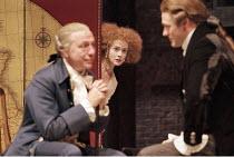 'THE SCHOOL FOR SCANDAL' (Sheridan - director: Declan Donnellan),l-r: Kenneth Cranham (Sir Peter Teazle), Emma Fielding (Lady Teazle), Jason O'Mara (Joseph Surface),Royal Shakespeare Company / Royal S...
